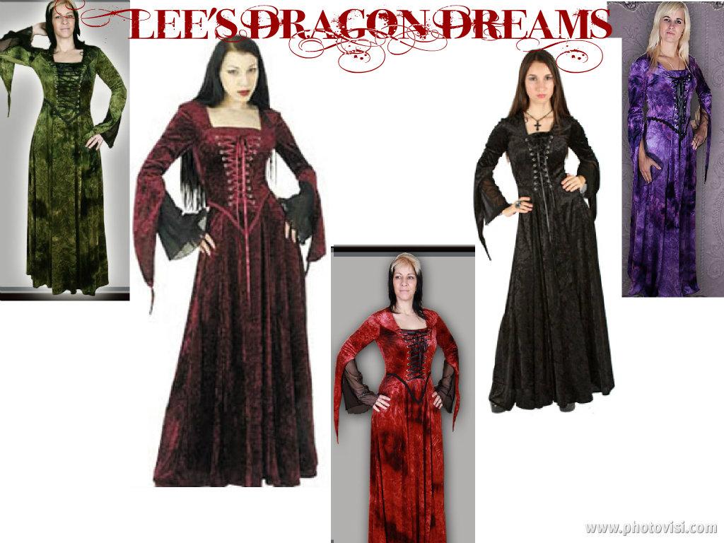 Gothic Medieval Vampire Saucy Twilight VELVET Dress Sandra ( 8 10 12 ...