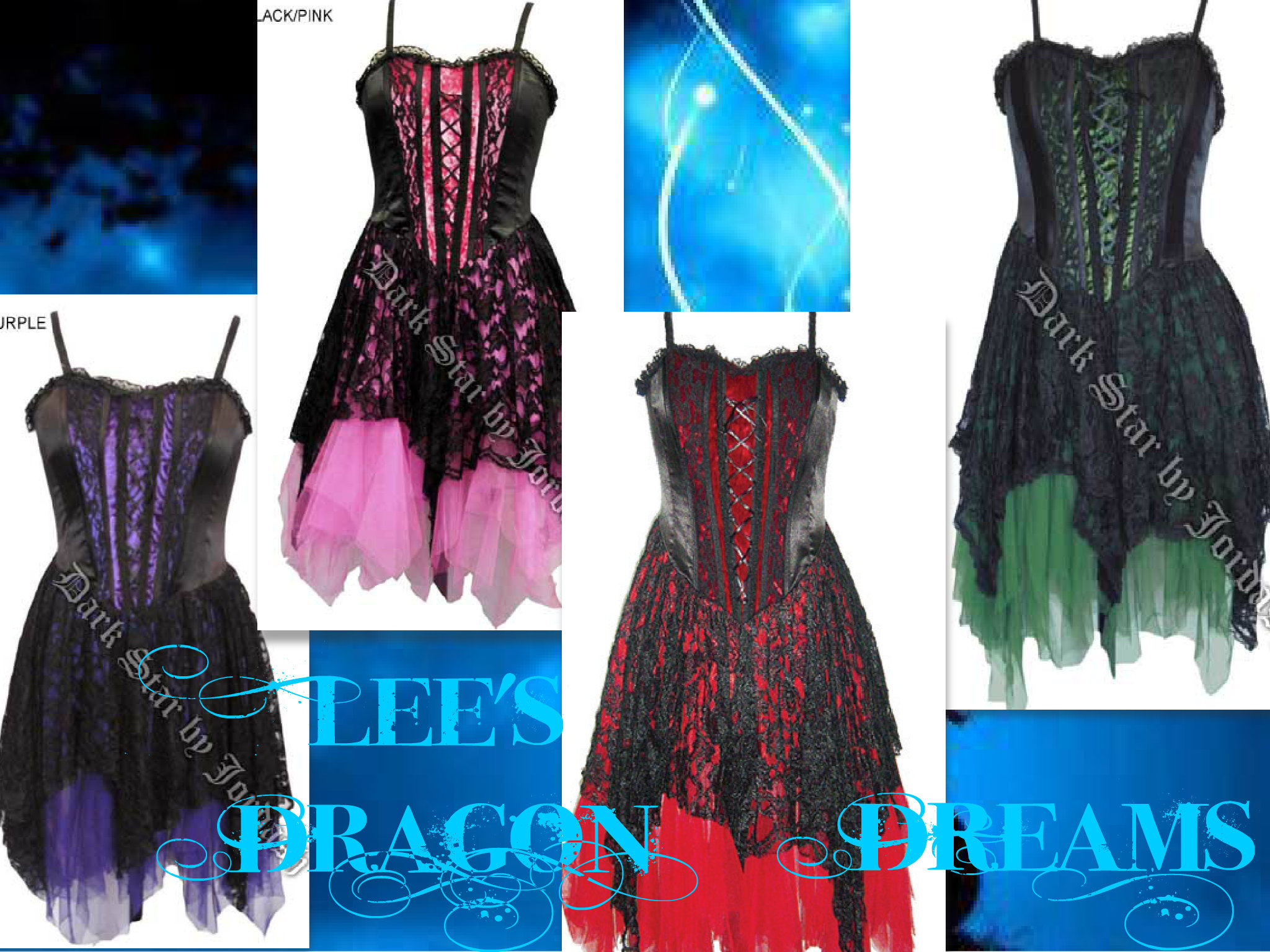 GOTHIC DARK FAELYN Enchanted Party Faerie CORSET DRESS 10