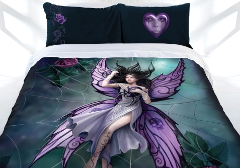 Anne Stokes Silk Lure Doona Cover Bed Set Fairy Spider