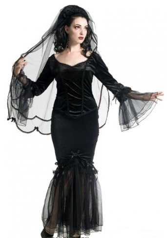 GOTHIC BLACK SINISTER  LACE TULLE MERMAID SKIRT S M 8 10 12 14