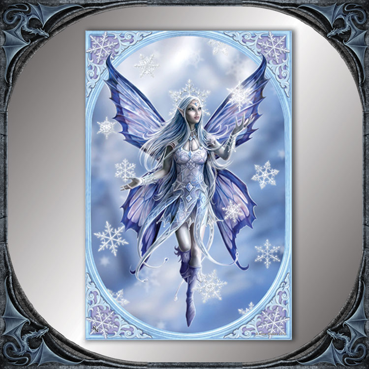 Snow Fairy Large Tile By Anne Stokes Gothic 30x 20cm Lee S Dragon Dreams