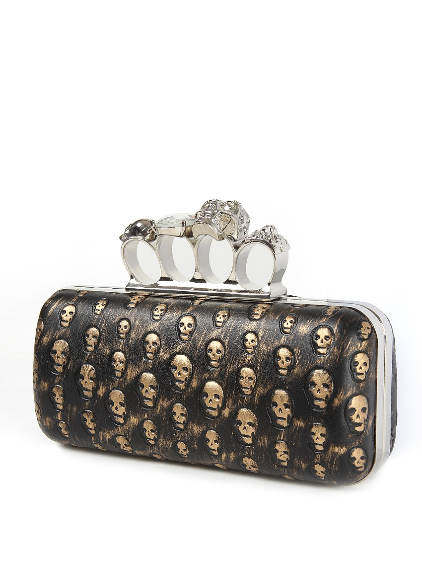 Gothic Steam Punk Knuckle Rings Skull Heads Clutch Evening