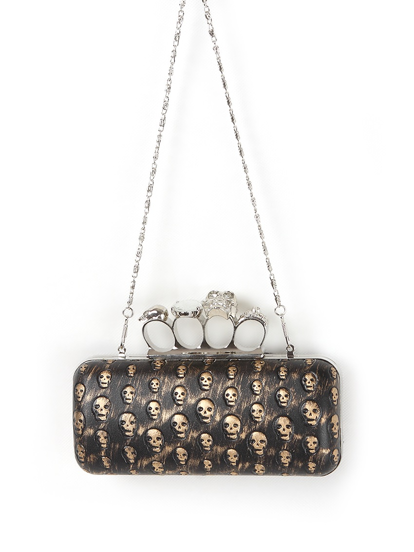 Skull Knuckle Rings Gothic Clutch