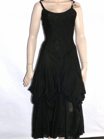hippie gypsy romantic faerie ruched tie dye corset dress