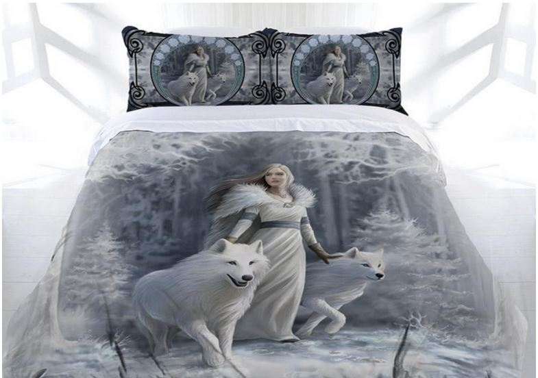 Anne Stokes Gothic Quot Winter Guardian Quot Bed Doona Cover Set