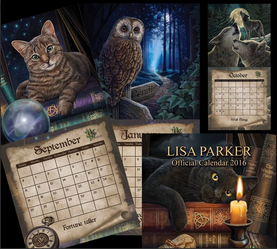 witchcraft and wildlife artist lisa parker 2016 calendar
