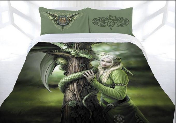 ANNE STOKES KINDRED SPIRITS Doona Cover Bed set Double Queen King ... : dragon quilt cover - Adamdwight.com