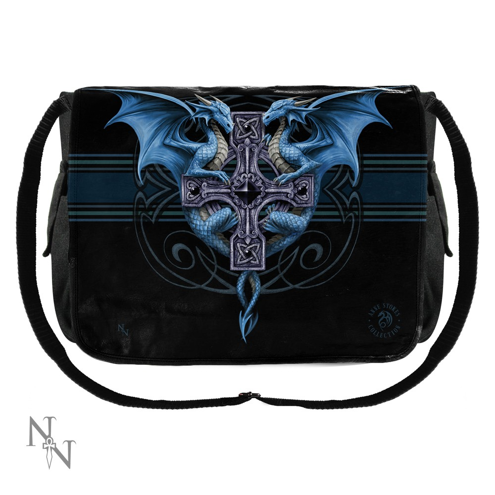 Messenger Bag Anne Stokes Dragon Duo 40cm Blue Gothic