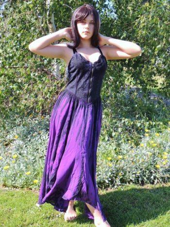 gothic tie dye gypsy dark faerie full circle corset top