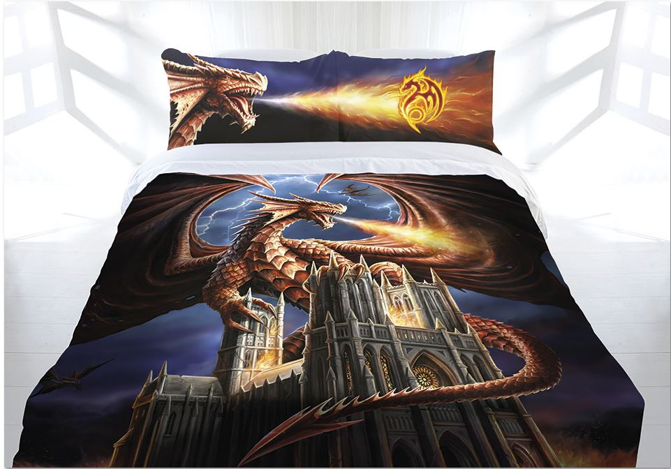 Anne Stokes Dragon Fury Doona Cover Bed Set Double Queen