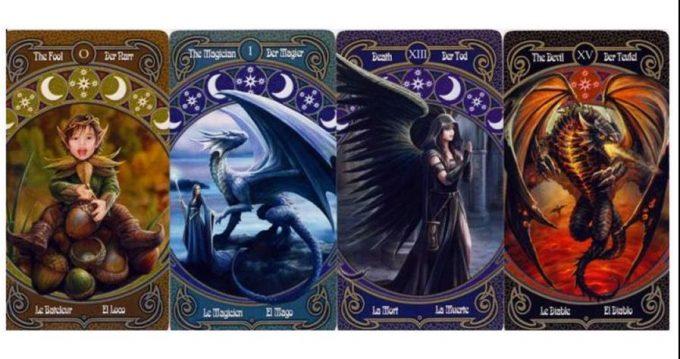 Anne Stokes Legends Tarot Cards Unicorns Fairies Wolves