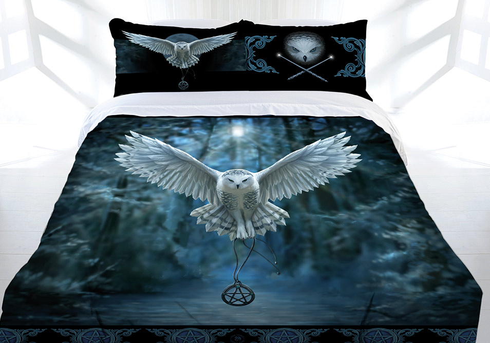 Anne Stokes Awaken Your Magic Quilt Cover Set Collection Owl Pentagram Nature Gothic Witch Lee