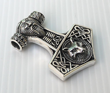 Viking mjolnir thors hammer odins norse fox sterling silver viking mjolnir thors hammer odins norse fox sterling silver pendant lees dragon dreams mozeypictures Gallery