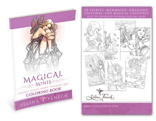Mini Colouring Book - Coloring Magical Minis by Selina Fenech ...
