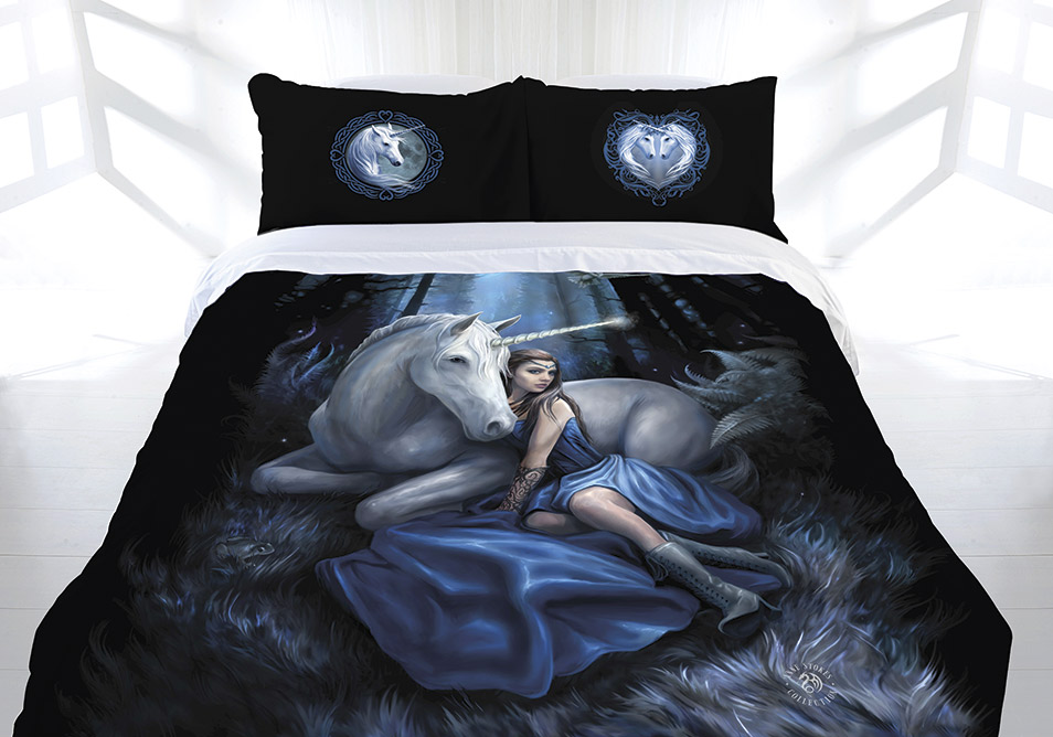 Anne Stokes Blue Moon Doona Quilt Cover Bed Set Double