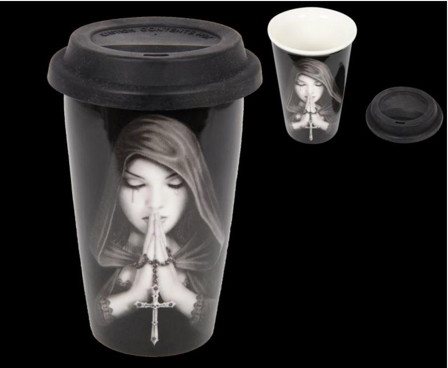 Travel Mug Anne Stokes Ceramic Travel Cup Mug With
