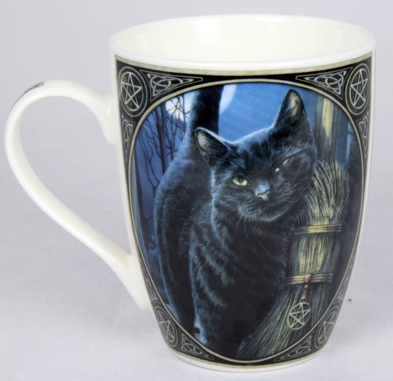 Lisa Parker Gothic Brush With Magic Mug Black Cat