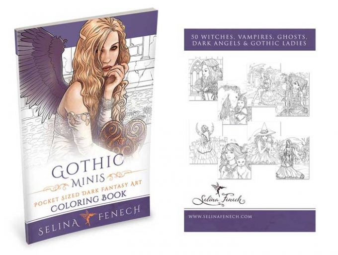 mini colouring book coloring gothic minis by selina fenech faeries and fantasy dragons magic - Gothic Coloring Book