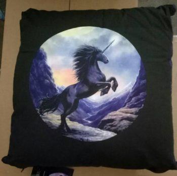 SINGLE DOUBLE QUEEN KING Anne Stokes Black Unicorn Horse Quilt Doona Cover Set